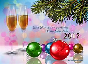 best wishes for a friends choose ecard from new year