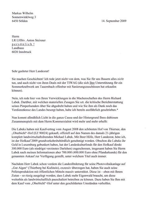 Anfrage Brief B2 Beispiel Die Tiwag Org Offener Brief An Lr Steixner Der Einem Luxemburger Million 228 R Den Kauf Eines