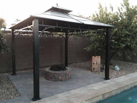 diy pit gazebo update on backyard diy lp pit stuffandymakes