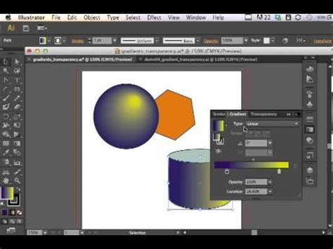 adobe illustrator cs6 gradient adobe illustrator cs6 gradients and transparency youtube