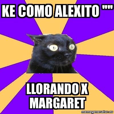 Anxiety Cat Meme Generator - meme anxiety cat ke como alexito quot quot llorando x margaret