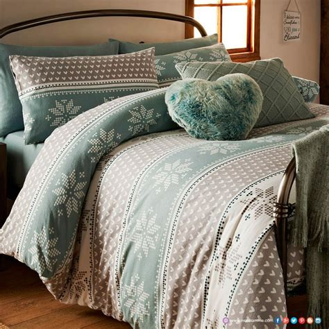 Matalan Bed Sets Snuggle Up In This Pretty Pink And Navy Fairisle Design Duvet Set In Luxuriously Soft 100