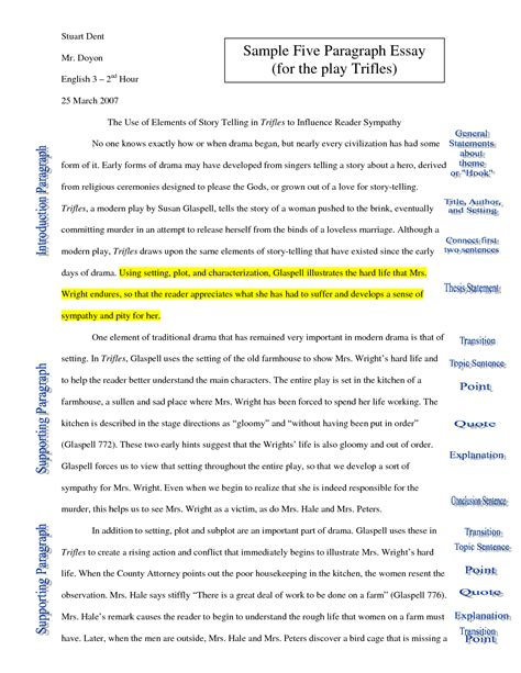 Exle Of A Five Paragraph Essay by 5 Paragraph Essay Botbuzz Co