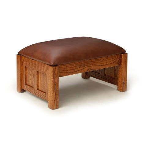 Mission Ottoman Paneled Mission Ottoman Amish Mission Ottoman Country Furniture