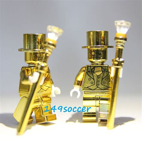 Lego Minifigure Seri 9 Heroic 2pcs set series 10 custom lego mr gold mini figures