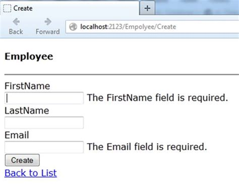 email format validation mvc client side required field validator sle in mvc day 26