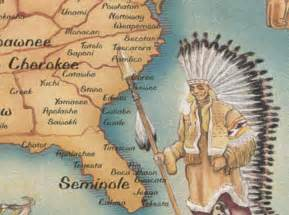 carolina indian tribes map american