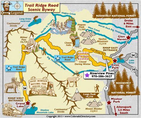 libro rocky trip the route trail ridge road scenic byway map colorado vacation directory colorado bucket list