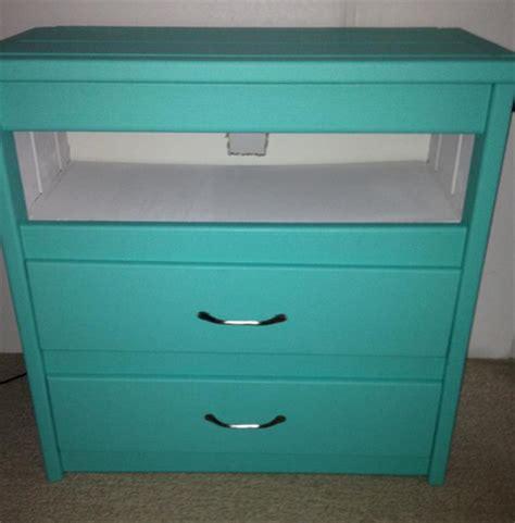 re purposing a dresser into an entertainment center on a