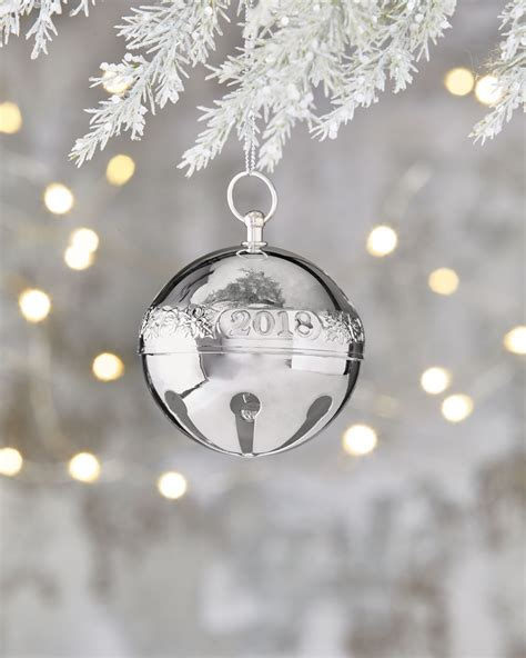 wallace silver bell 2018 wallace silversmiths wallace 2018 silver plated sleigh bell ornament 48th edition neiman