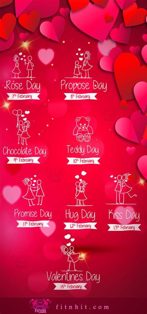 valentines list week list 2016 days complete list of dates to