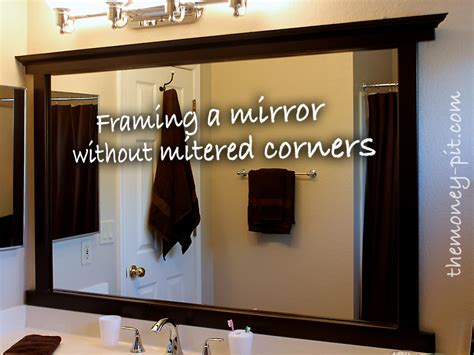 diy frame large bathroom mirror framing a mirror without miter cuts the kim six fix