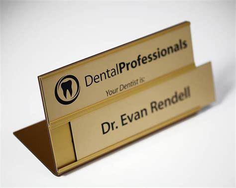 office desk name plates insert signs dental name plates
