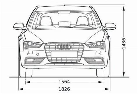Audi A4 Avant Breite audi a4 avant b8 abmessungen technische daten