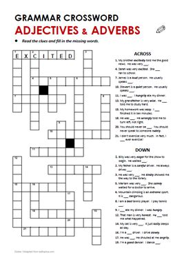 grammar crosswords all things grammar