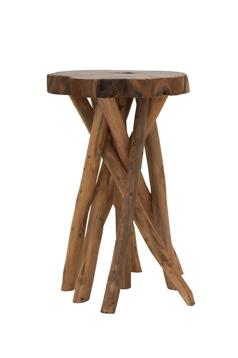 Teak Wood Stool by Saapni Distinctive Teak Wood Small Stool 39190
