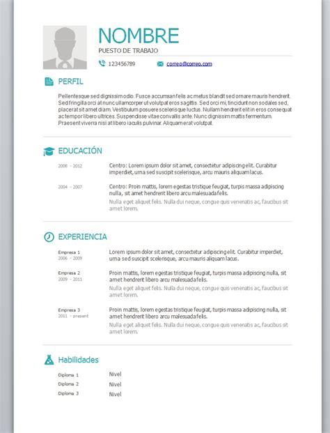 Plantillas De Resumen Curriculum Para Rellenar Foto Curriculum 3 Trabajemos