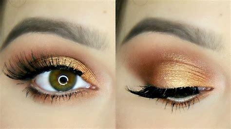 eyeshadow tutorial bronze bronze copper eye makeup tutorial doovi