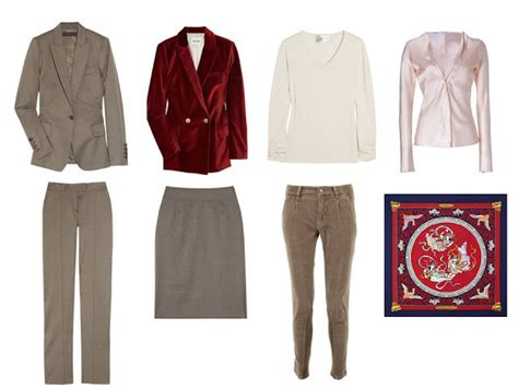Capsule Wardrobe for an office environment, in taupe, burgundy, and navy   The Vivienne Files