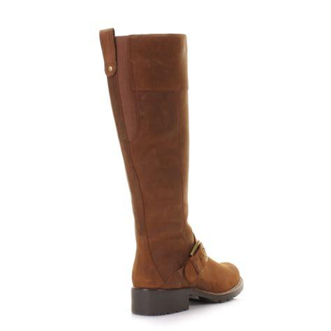 womens clarks orinoco jazz brown snuff leather knee high