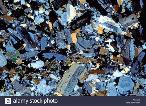 granite in thin section granite rock thin section showing feldspar quartz mica