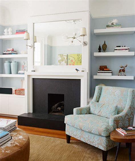 fireplace built in shelves for the home