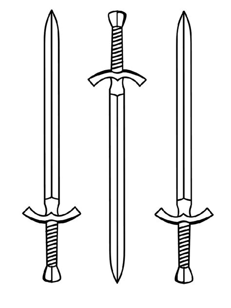 sword coloring pages  printable sword coloring pages