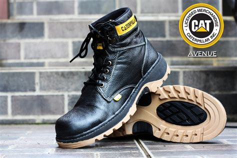 Grosir Caterpillar Safety Shoes Kulit Suede For 39 44 jual sepatu safety murah boots caterpillar harga grosir