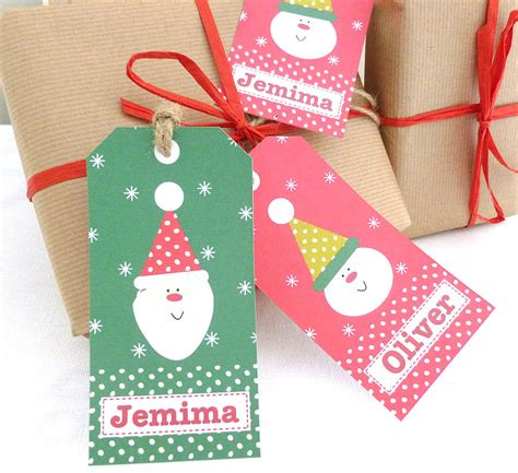 personalised christmas gift tags by tillie mint