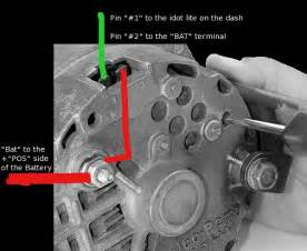 viewing a thread one wire alternator