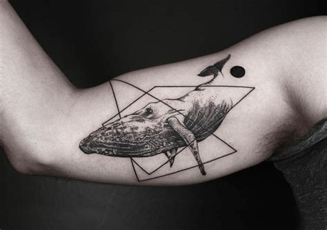 fine art tattoo designs geometric tattoos that combine lines and nature