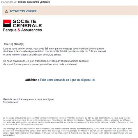 format email societe generale forum general re email frauduleux quot soci 233 t 233 g 233 n 233 rale quot