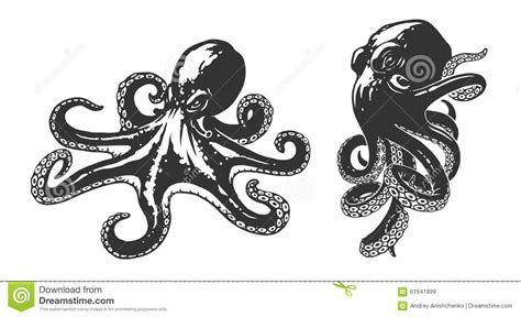 octopus illustration stock vector image of mascot black