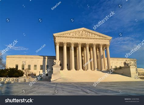 Washington Dc Court Search Supreme Court Building Washington Dc United States Stock Photo 120367096