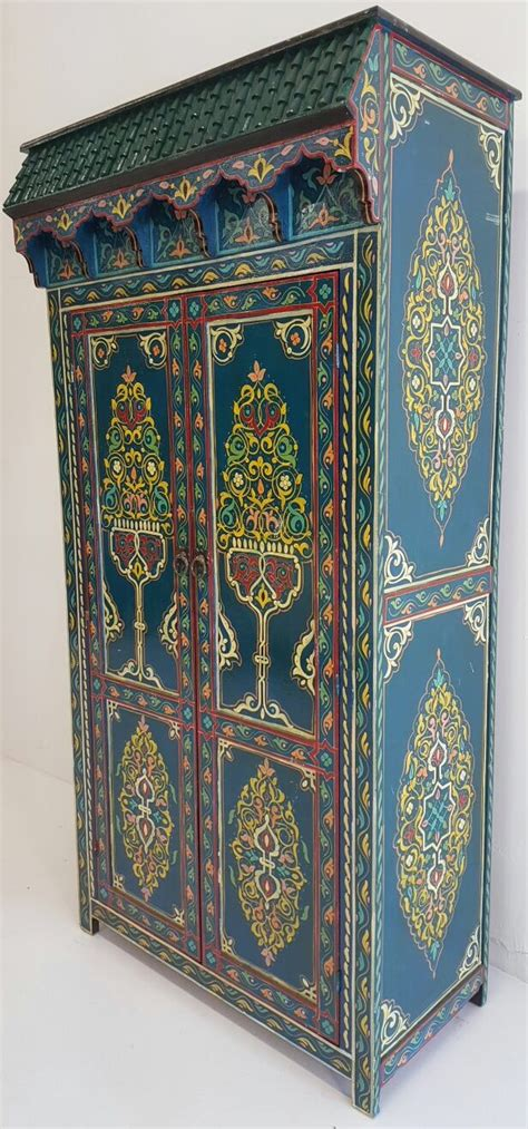 Moroccan Armoire by Moroccan Handpainted Armoires Handpainted Armoires