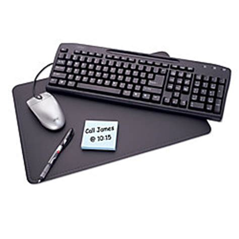 office depot desk pad office depot brand home cubicle desk pad 20 x 36 black by
