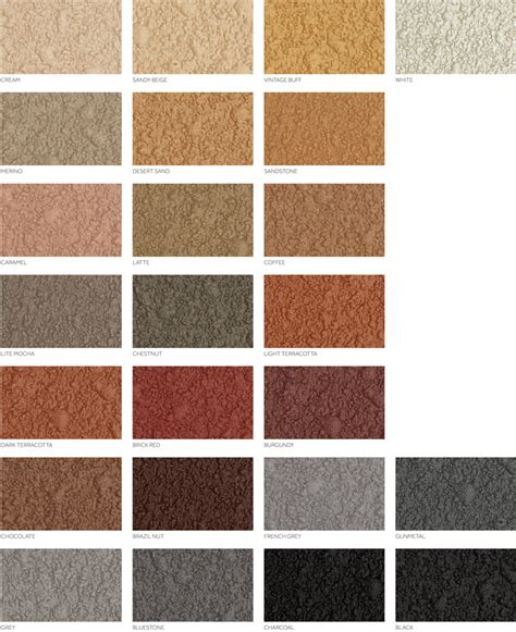 resurfacing colour chart concrete colour solutions