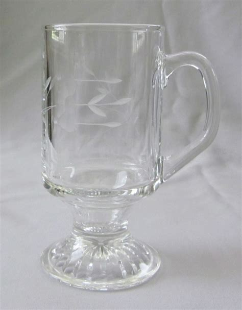 princess house crystal footed irish coffee mug princess house crystal heritage ebay