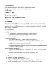 Jobs On Resume In What Order by Picker Packer Resume Warehouse Order Picker Resume Pdf