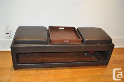 long leather ottoman long brown leather ottoman downtown annex area for