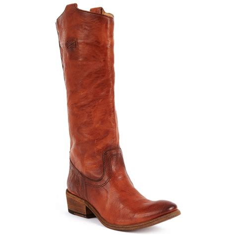 frye carson tab boots in brown cognac lyst