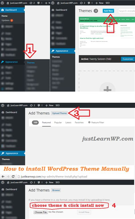 themes wordpress install install wordpress theme manually step by step