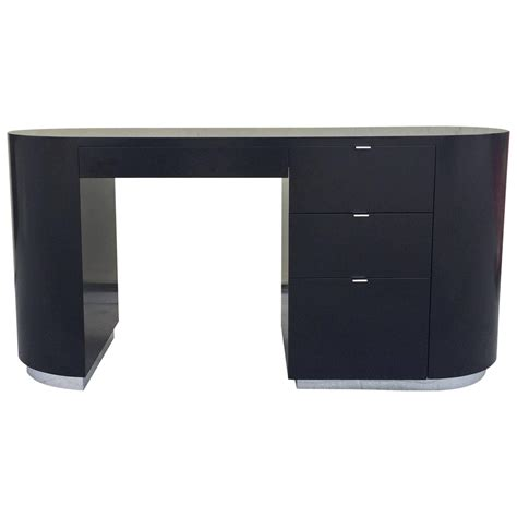 architectural black lacquer desk at 1stdibs