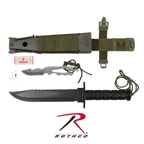 survival knife kits rothco deluxe jungle survival kit knife