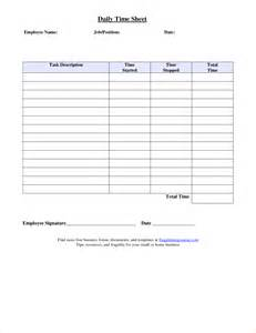 Daily Time Sheets Template by Printable Daily Time Sheet Cbru