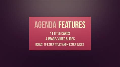 agenda classy modular promo after effects template
