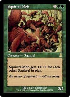 Mtg Squirrel Deck squirrel mob odyssey gatherer magic the gathering