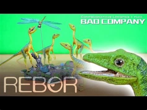 Rebor Compsognathus Bad Company rebor 174 bad company compsognathus pack x4 1 6 unboxing review