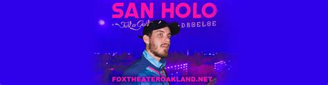 san holo resale tickets san holo tickets 2nd december fox theater oakland
