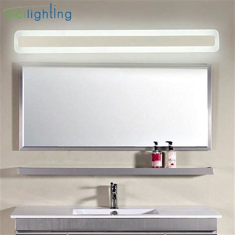 acrylic bathroom mirror 110 240v l40cm 50cm 60cm 70cm modern art decor acrylic bathroom mirror light long vanity make up